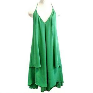 REBECCA MINKOFF Silk Chiffon High Low Midi Dress